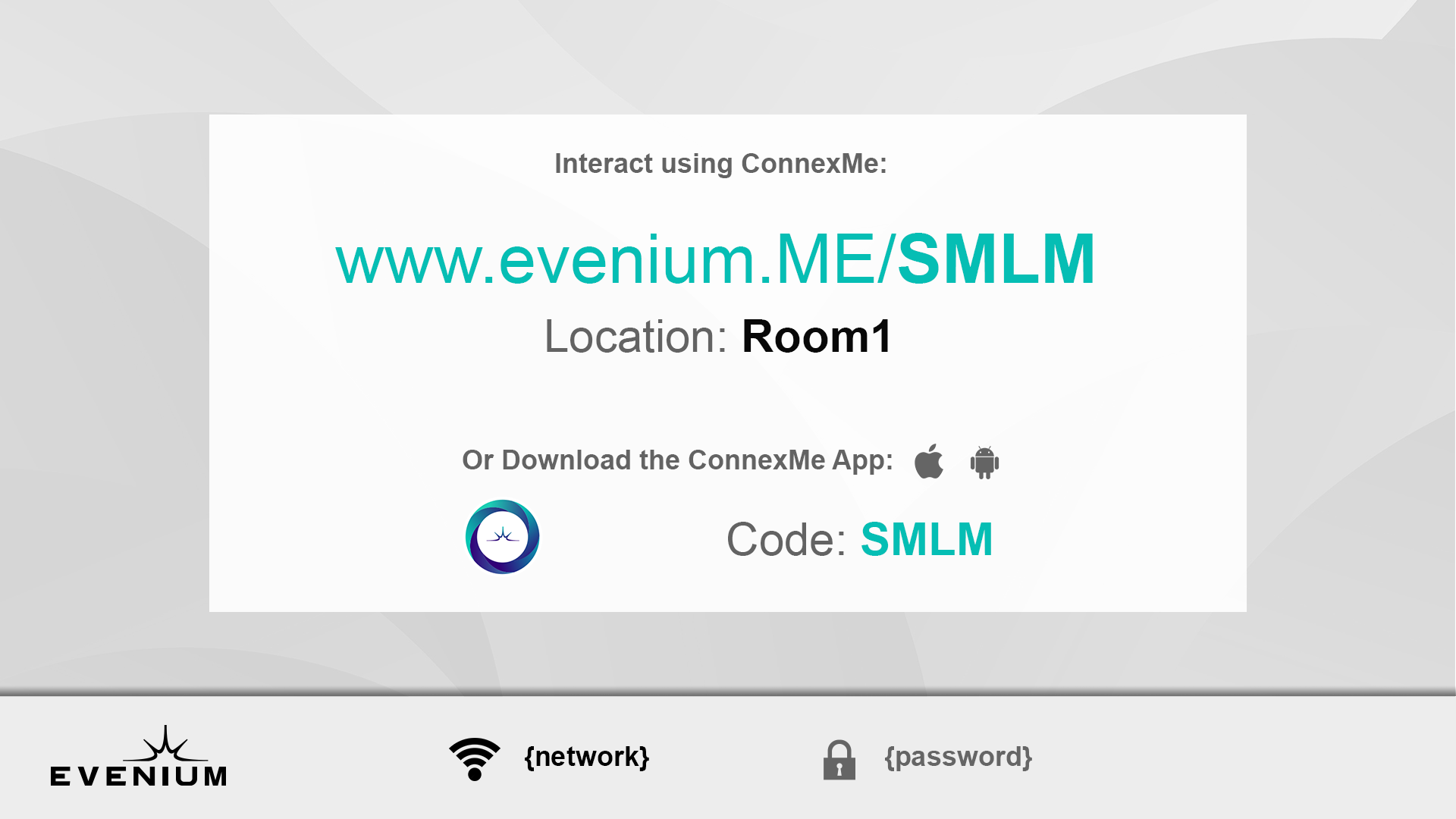 Find our new feature for ConnexMe to display the wifi connection ID and Password